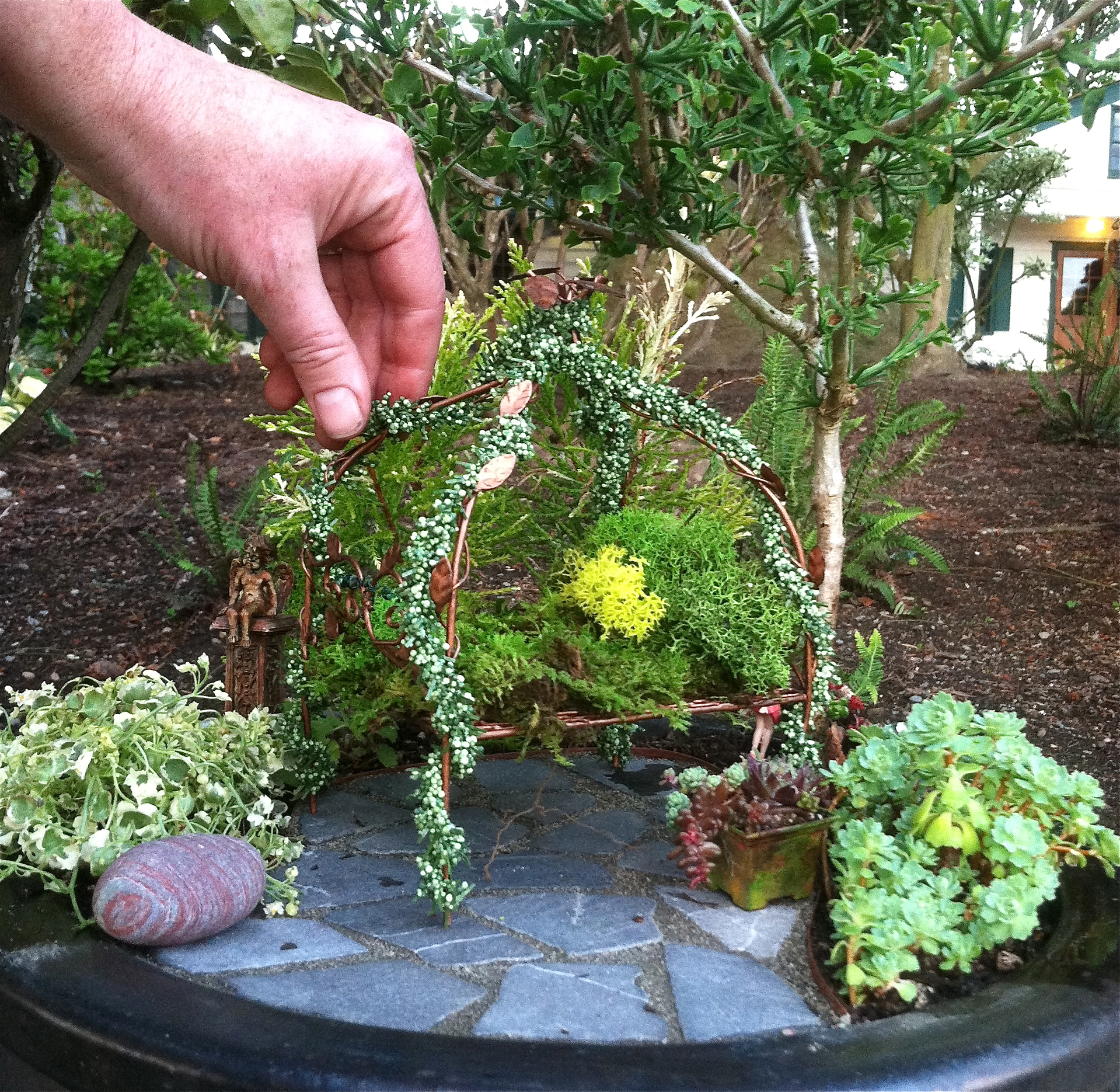 Miniature Garden with Fairy Bed