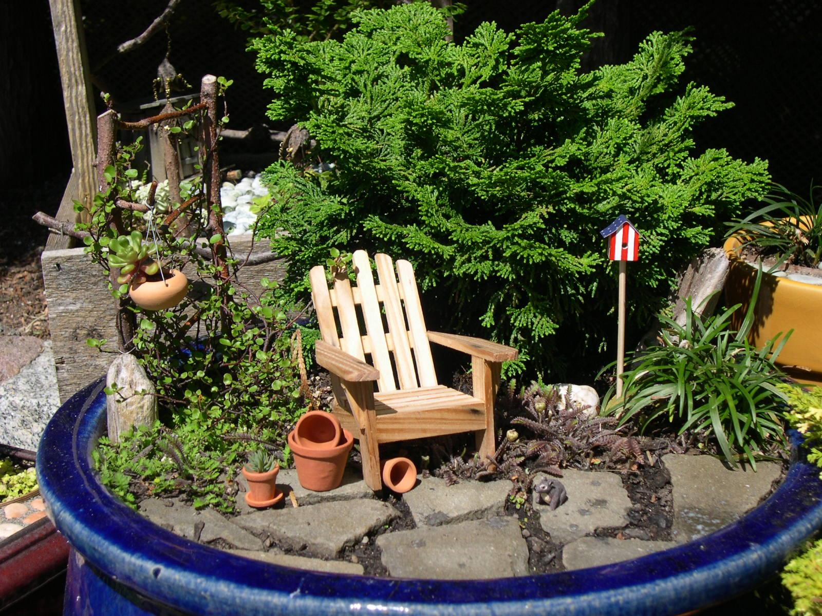 A Peaceful Miniature Garden Scene