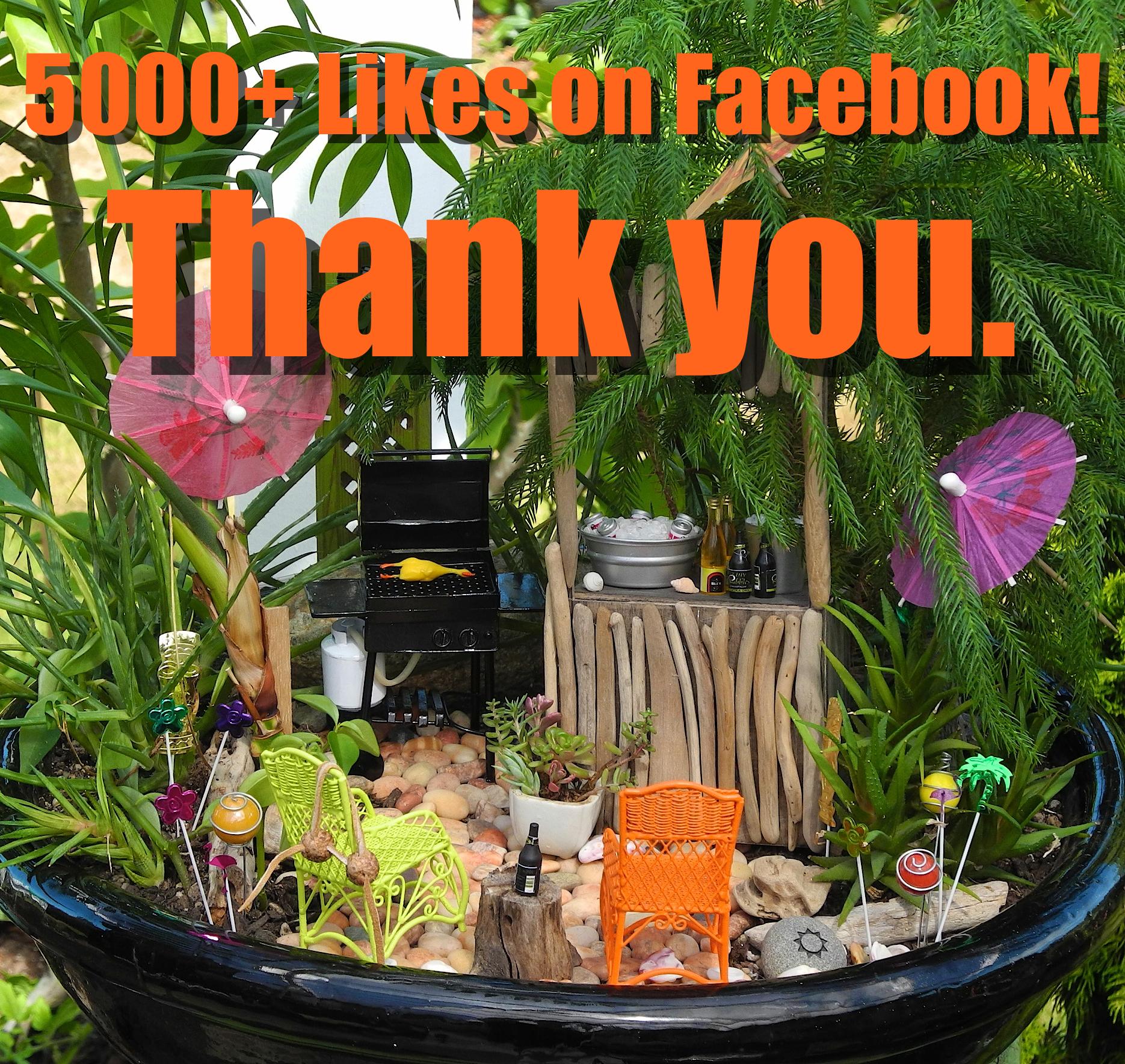 Miniature Garden Tiki Party
