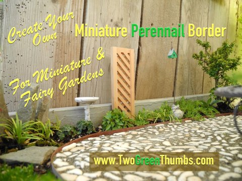 Miniature Perennial Borders with TwoGreenThumbs.com