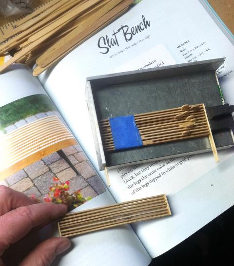 Hand-Built Outdoor Furniture in Miniature