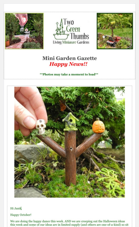 Join us for more miniature gardening!
