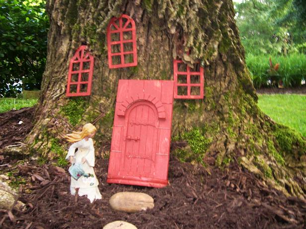 Fairy door and windows.
