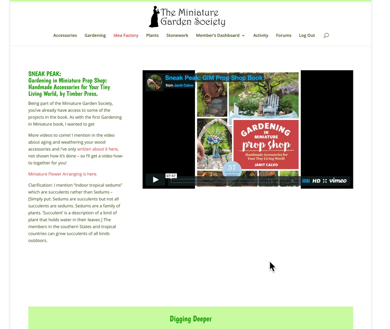 Miniature Garden Society - the best website for Miniature Gardening on the Planet!