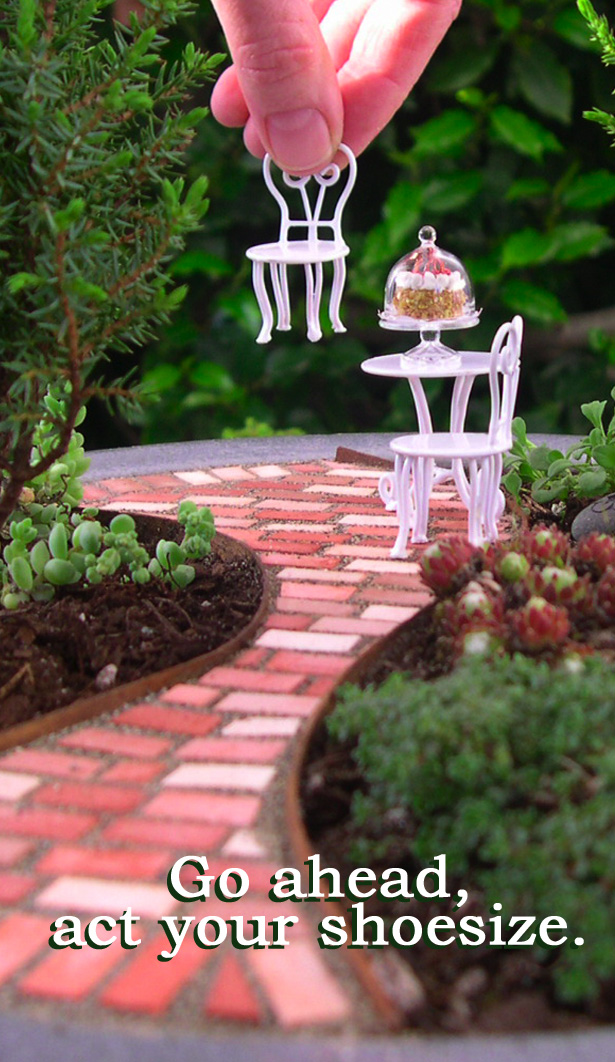 Miniature Gardening: Go Ahead, Act Your Shoesize