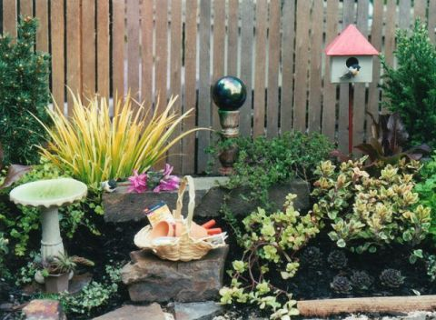 The original Miniature Garden that lasted for 3 years before the container fell apart.
