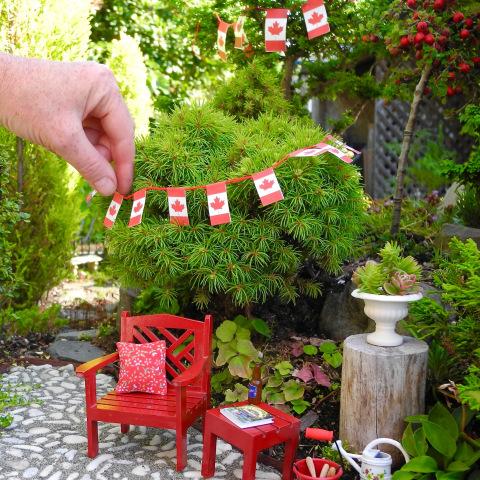 Happy Canada Day in the Miniature Garden!