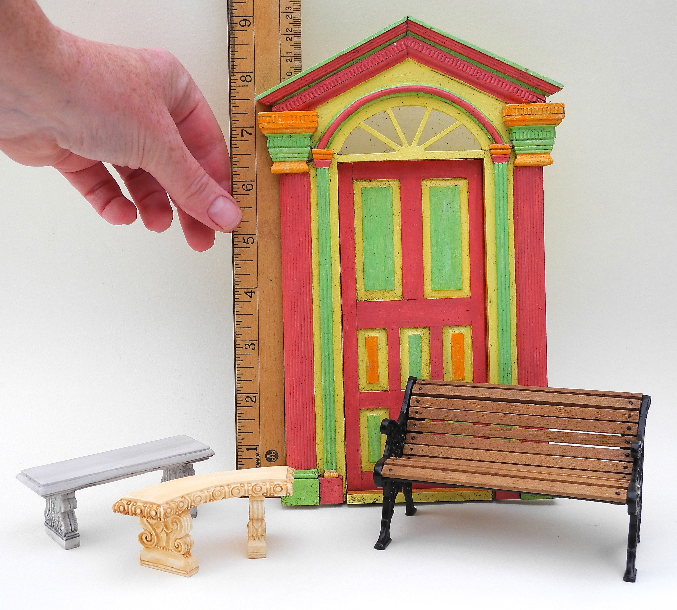 One inch scale miniature garden accessories