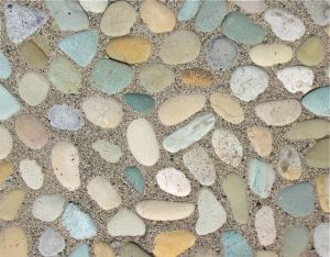 The Mini Patio Mix Kit used with the green stone sheet available in the store.